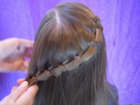 Spiral French Braid Side Ponytail