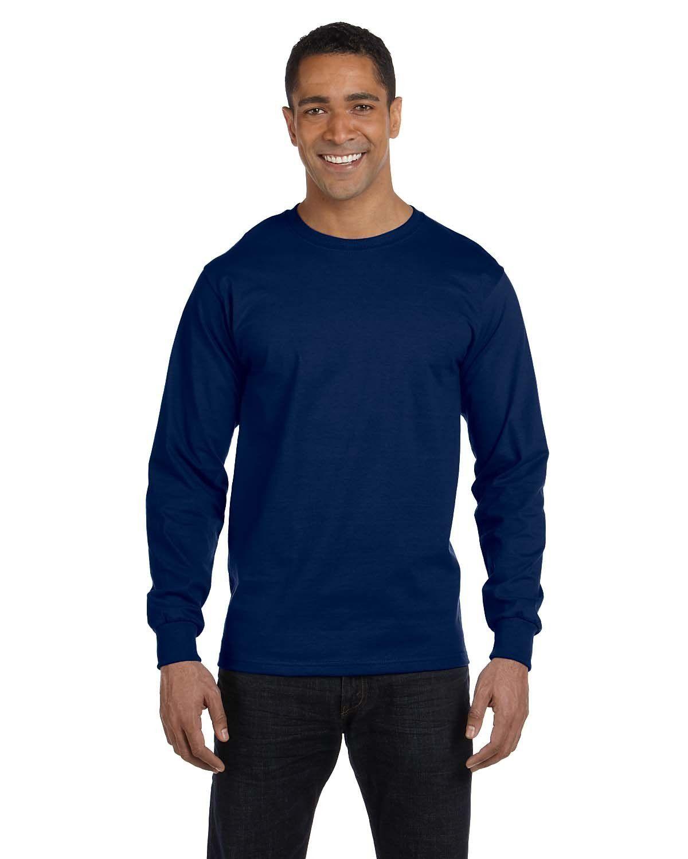0b9e4d05da3 Gildan Dryblend Long-Sleeve T-Shirt G840 Navy