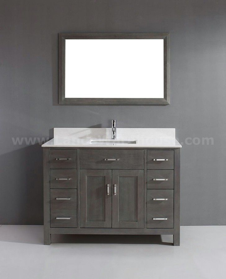 Modern single sink bathroom vanities Grey Floating Bathroom Kaleeze French Gray 47 Modern Single Sink Bathroom Vanity Pinterest Kaleeze French Gray 47 Modern Single Sink Bathroom Vanity