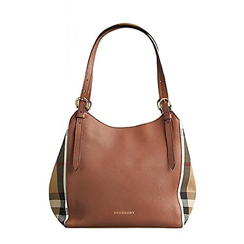 fafd82081301 Tote Bag Handbag Authentic Burberry Small Canter in Leather and House Tan  color Made in Italy