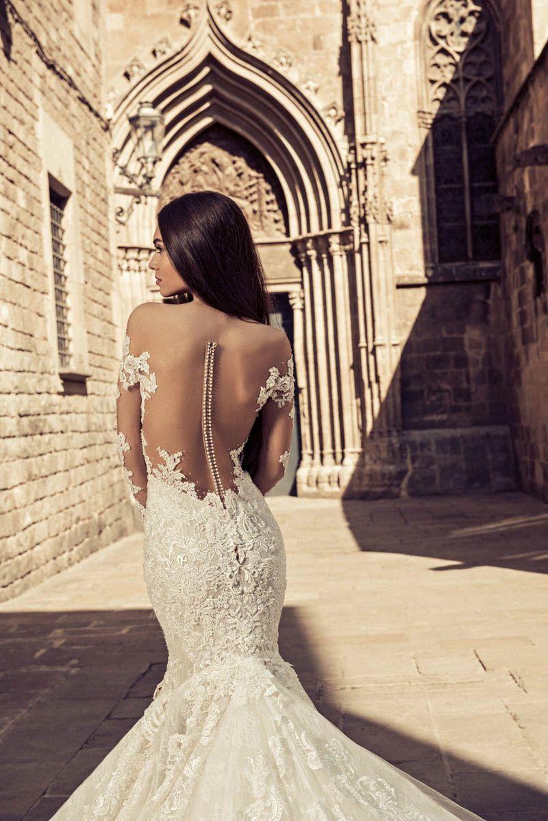 Mermaid Wedding dress with tattoo lace back Meerjungfrau mit