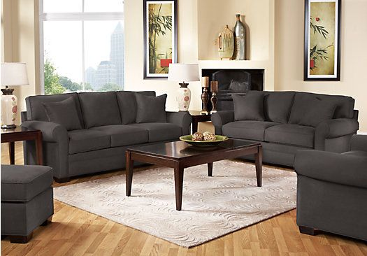 Shop For A Cindy Crawford Bellingham Slate 2Pc Classic Living Room At Rooms To Go