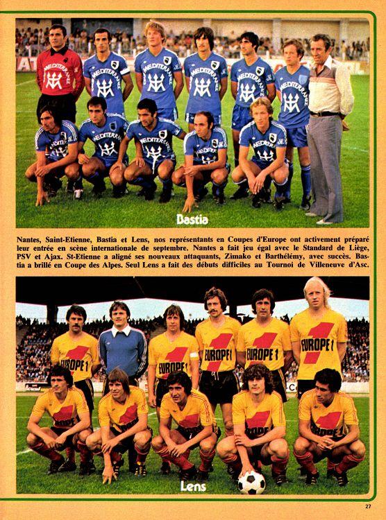 SC Bastia and RC Lens team groups in 1978. Bastia, Sc bastia