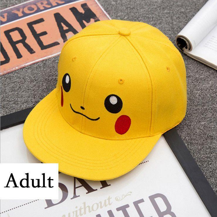 2ad50b7bfaa82 Pokemon Go Cosplay Cap Drake Hip Hop Pikachu Dad Hat Baseball Cap Ash  Ketchum