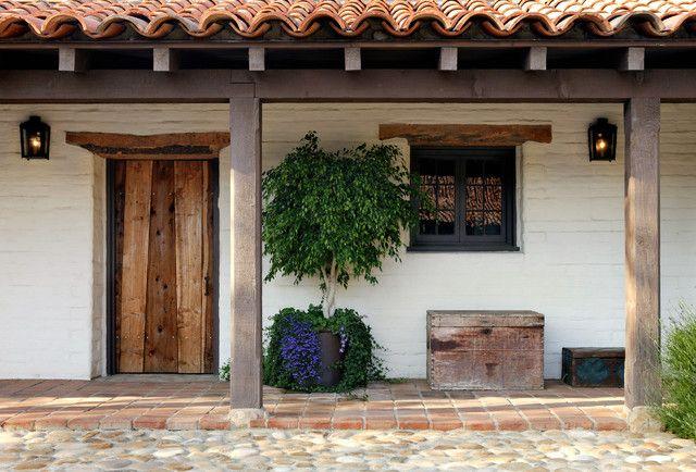 Porche a lo largo de la entrada casa chilena casas de - Entradas rusticas ...
