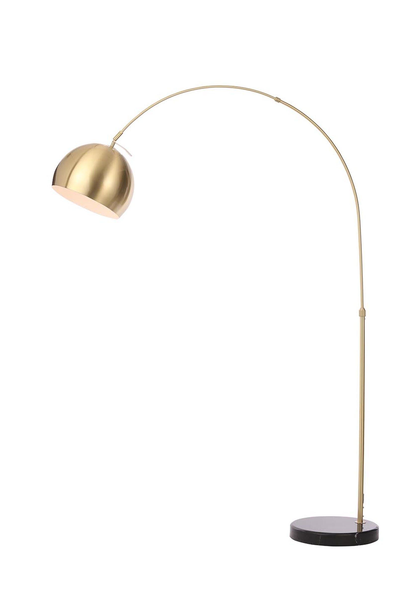 Helene Arc Floor Lamp (H180cm x W28cm) Gold Arc floor