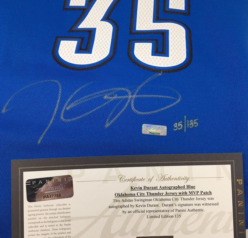pretty nice 75848 edd5a KEVIN DURANT Autographed