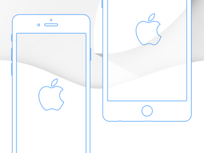 iPhone 6 and 6 Plus Wireframe   Wireframe and Mockup Free Sketch iPhone 6 and 6 Plus Wireframe