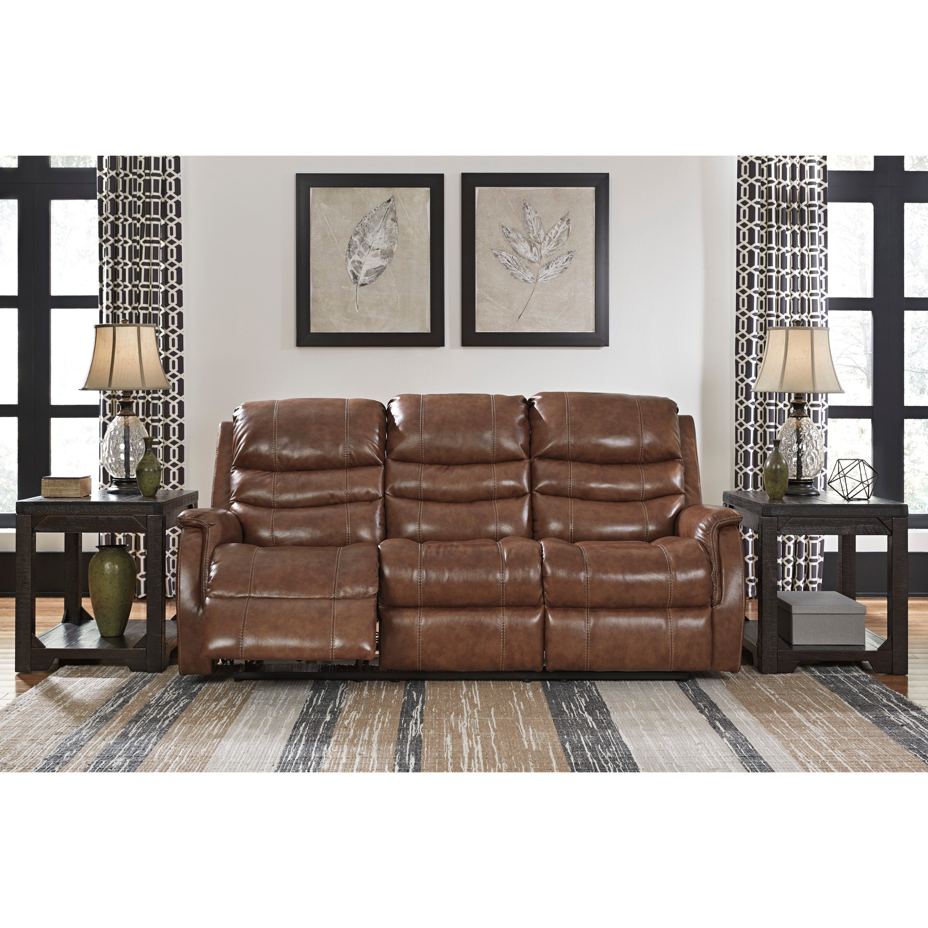 Jasmine Leather or Performance Leather™ Reclining Sofa Power