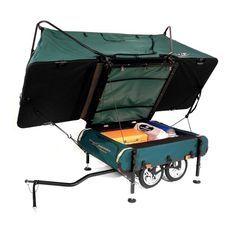 Desire This | K&-Rite Midget Bushtrekka Bicycle C&er Trailer with Oversize Tent Cot  sc 1 st  Pinterest & Kamp-Rite Midget Bushtrekka Bicycle Camper Trailer with Oversize ...