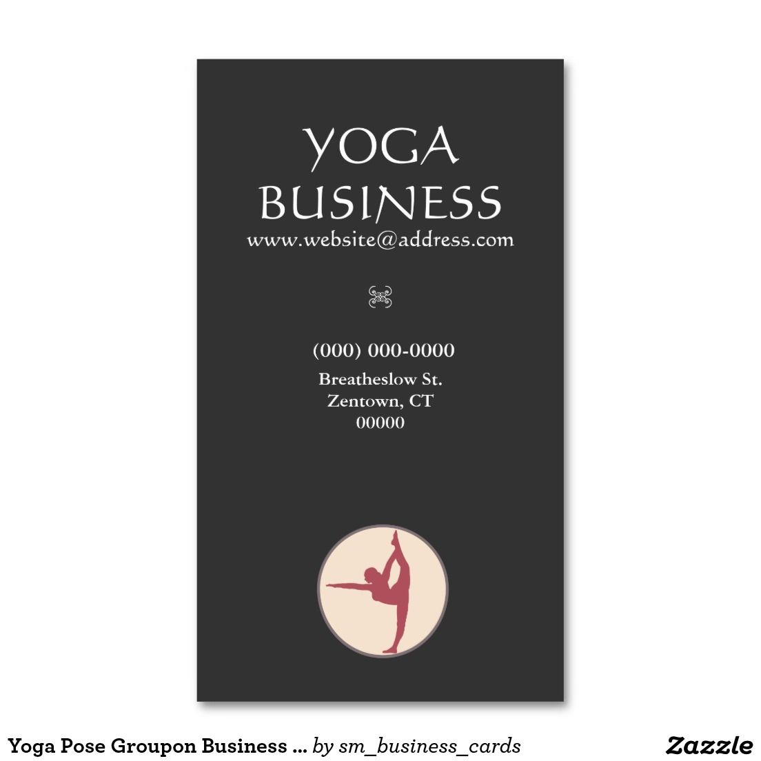 Yoga Pose Groupon Business Card | Yoga poses, Business cards and Yoga