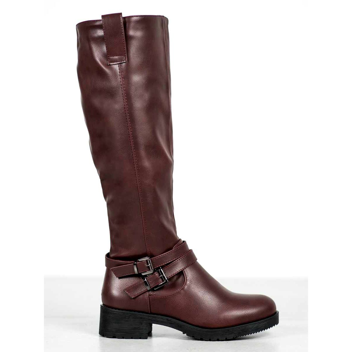 Super Me Cieple Kozaki Czerwone Boots Womens Boots Warm Boots