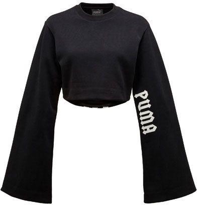 timeless design c4394 04596 FENTY® PUMA® by Rihanna Cropped Kimono Sweatshirt, Black ...