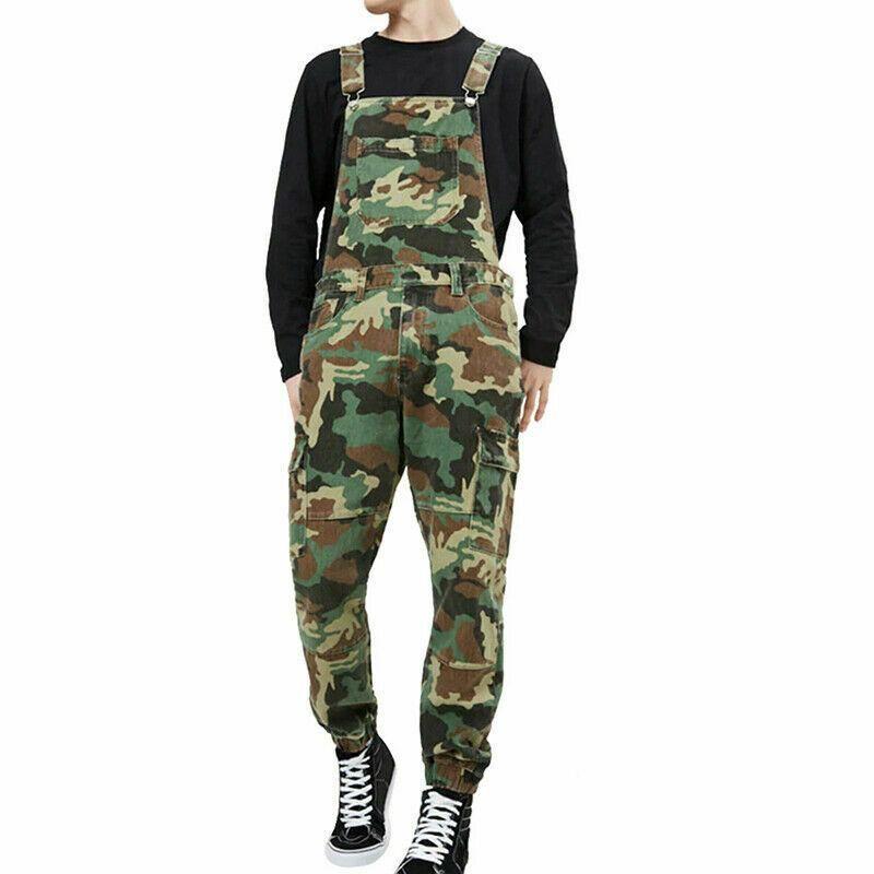 country camo denim bib overalls for men in 2020 overalls on cheap insulated coveralls for men id=82970