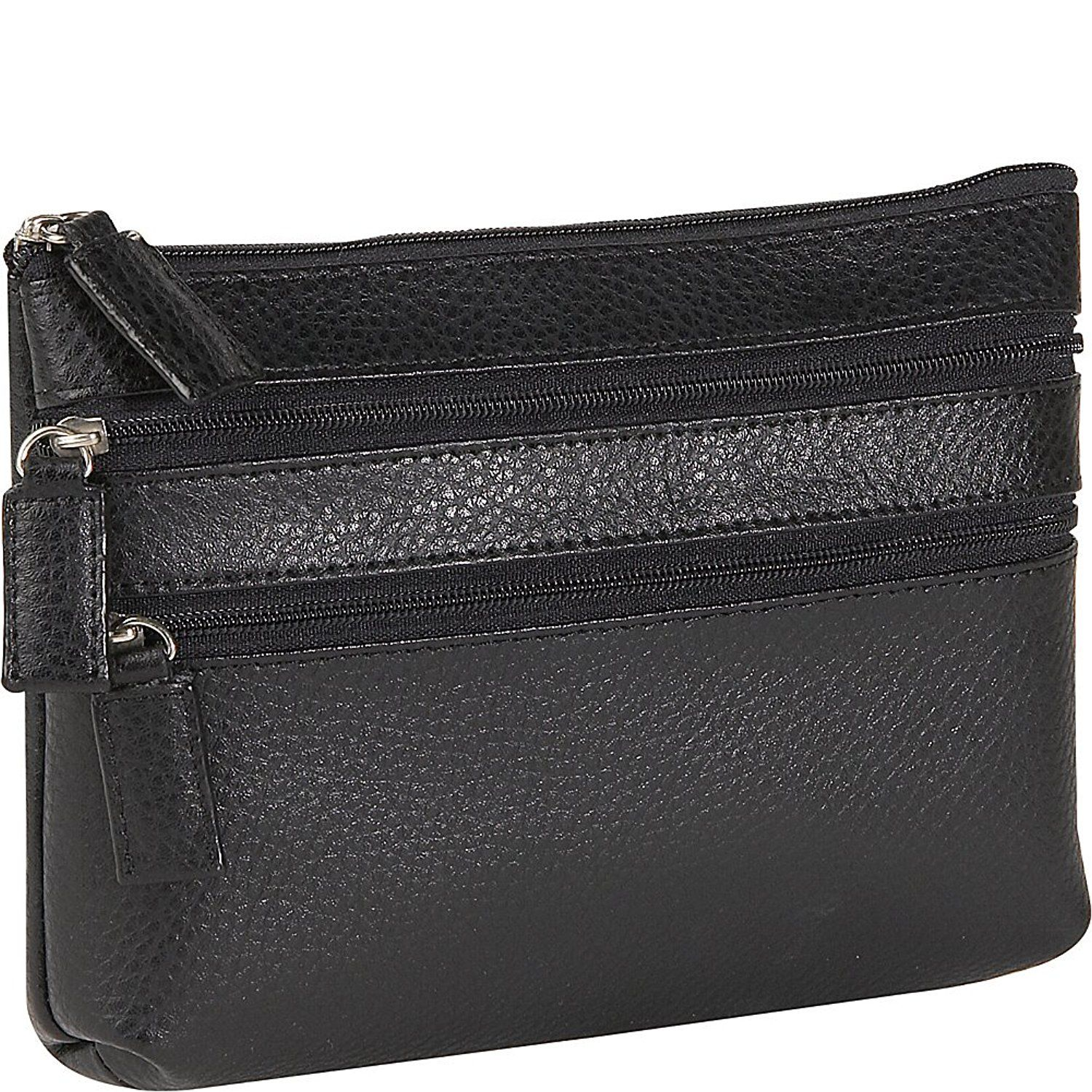 Budd Leather Pebble Grained Leather Triple Zip Cosmetic Case * If you love this, read review now : Travel cosmetic bag