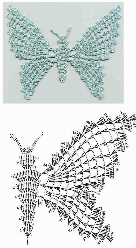 50+ kostenlose Häkelanleitungen für Schmetterlinge, #crochetpatrones #für #hakelanleitungen #... #crochetflowerpatterns