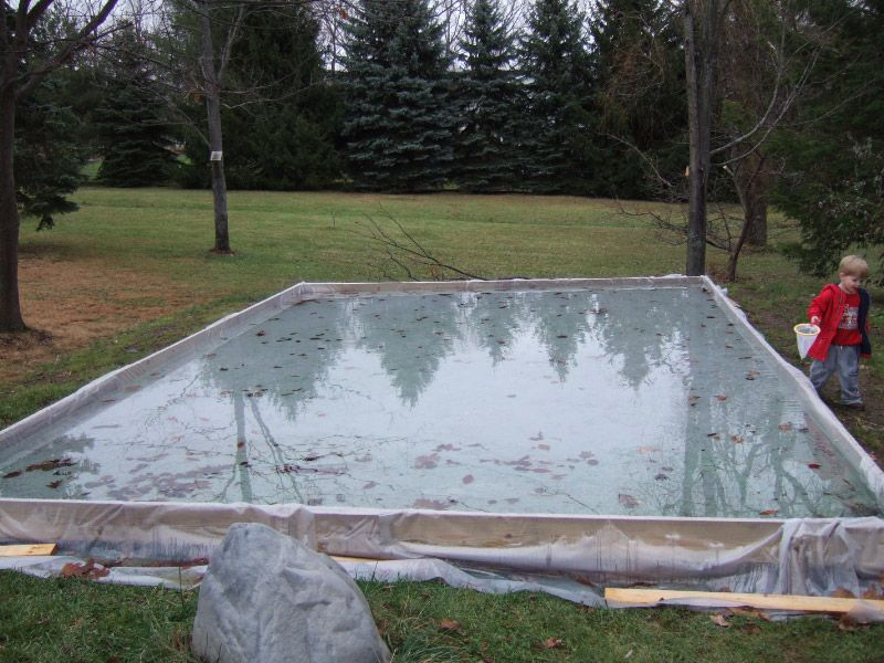 Merveilleux DIY Backyard Ice Rink (if You Want To Be The Coolest Parents Ever)