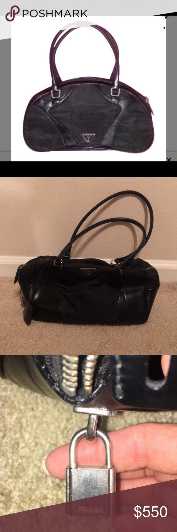 Photo of Prada handbag vintage, collectors item For sale is a vintage, designer- Prada, b…