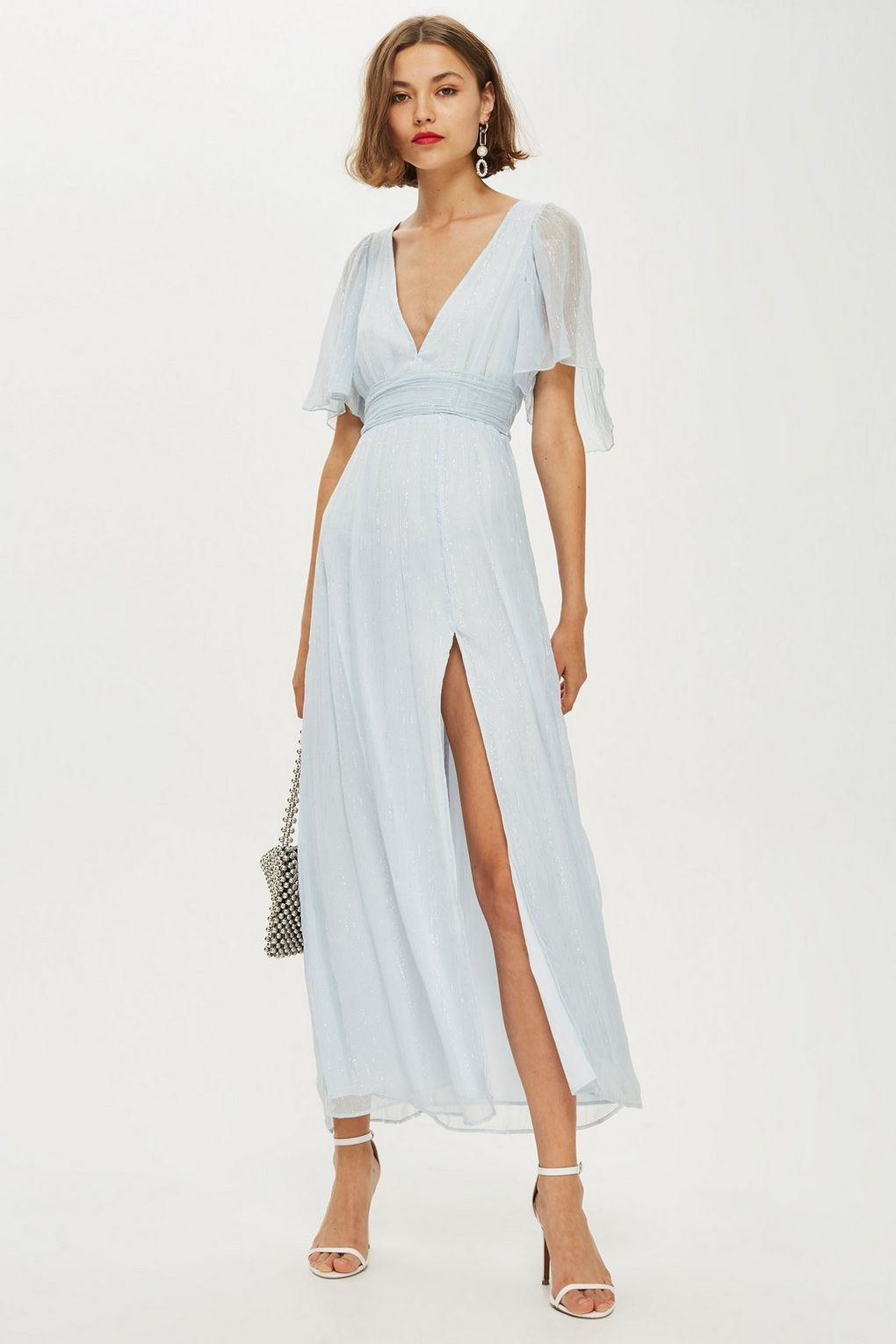 628526e881 Metallic Striped Plunge Dress - Dresses - Clothing - Topshop USA