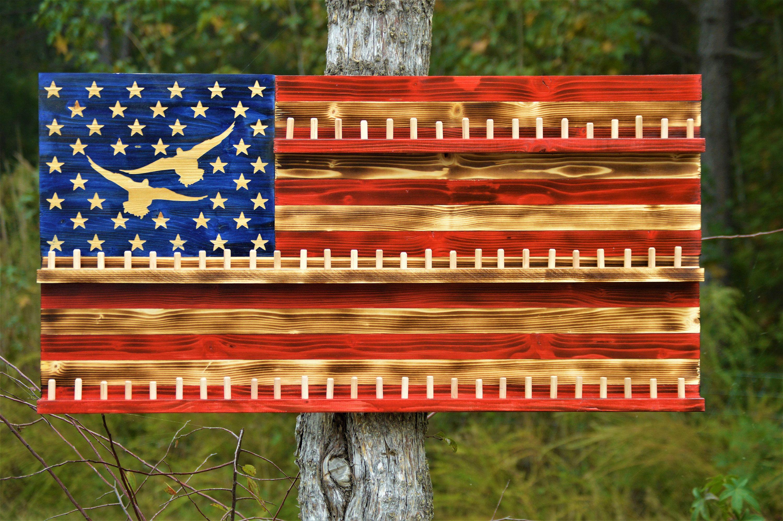 Wood American Flag Duck Call Display Rustic American Flag Etsy In 2020 Rustic American Flag American Flag Wood American Flag