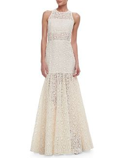 4161efe206e9c T7CS2 Alexis Victor Lace Embroidered Sleeveless Gown | weddings ...