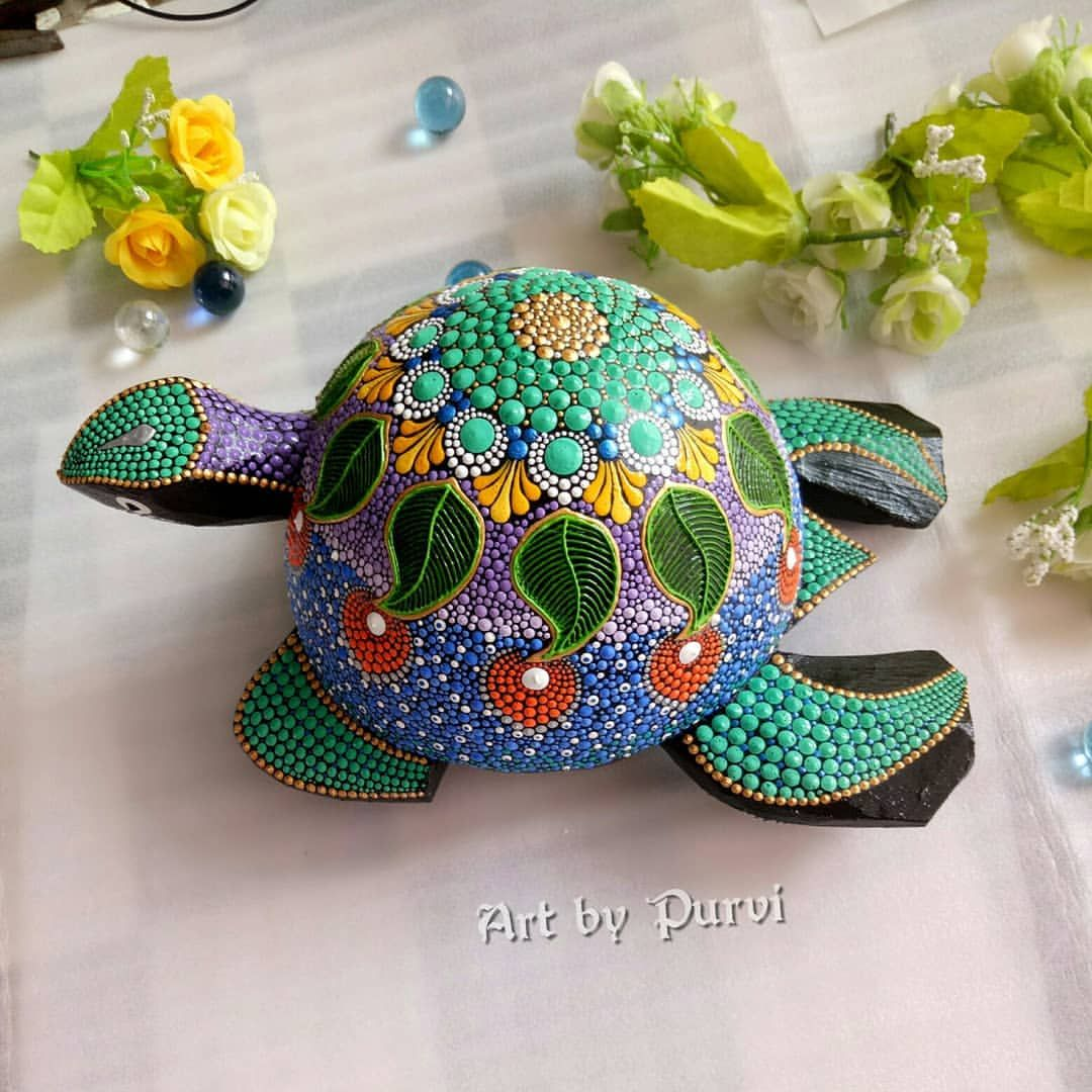 Pin By Kerri Render On Dot Style Ornaments Books Furniture Other Symbolic Art Turtle Painting Turtle