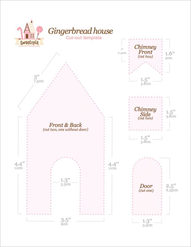gingerbread house template download  6+ Gingerbread House Templates - Free PDF Document Formats ...
