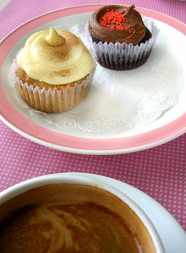 cupcakes by sonja carrot + chocolate cupcakes by chotda, via Flickr