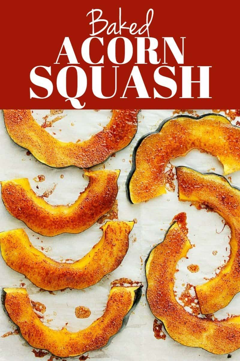 These Baked Acorn Squash Slices Are Brushed With Brown Sugar And