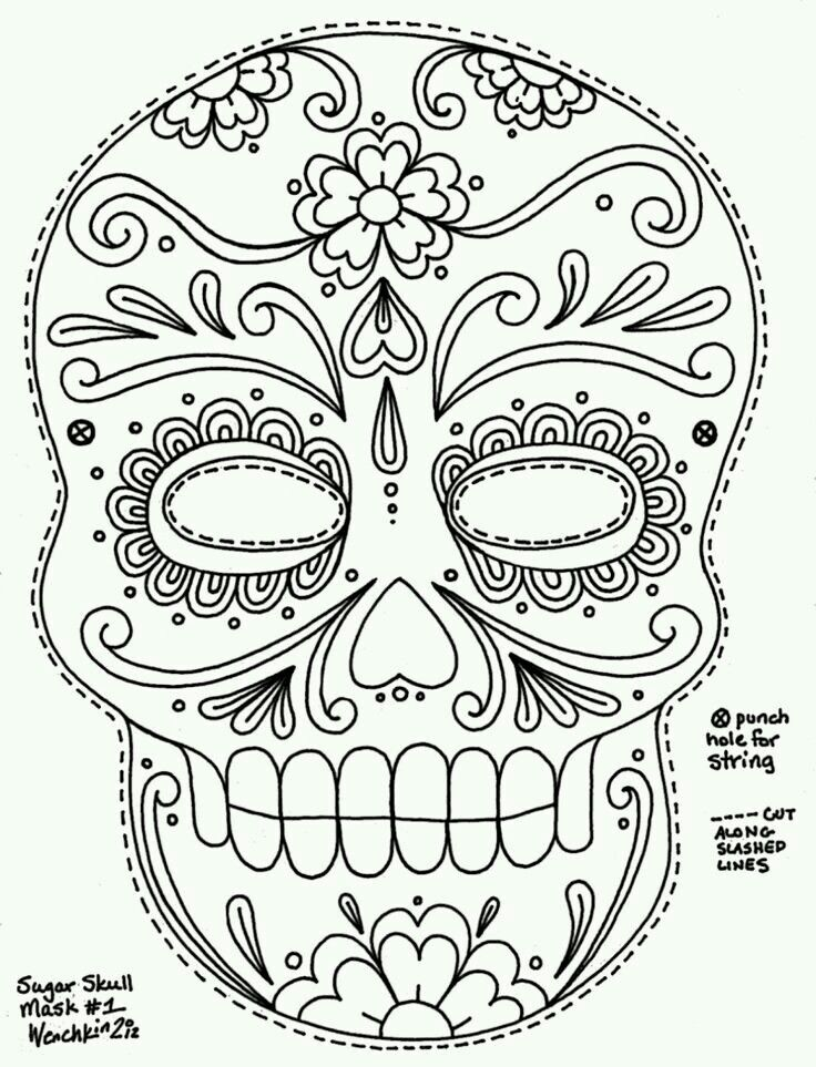 Calavera With Images Skull Coloring Pages Day Of The Dead