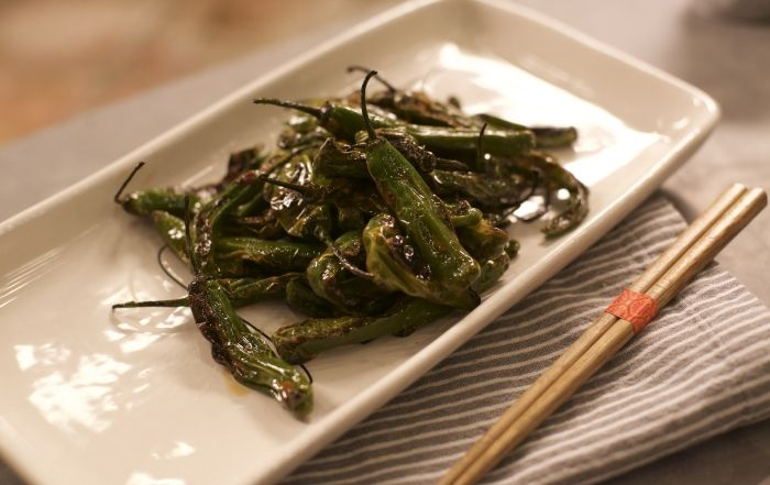 Shishito Peppers with a Soy Ginger Sauce
