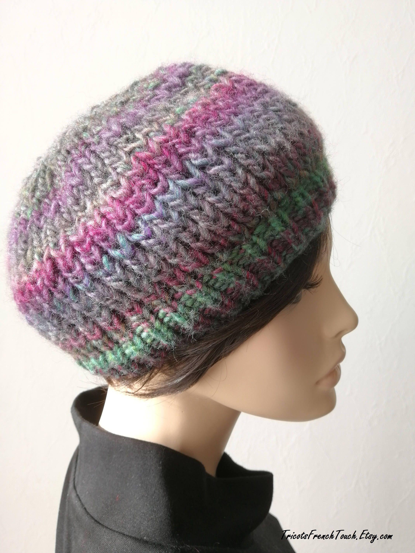 bonnet femme tricot fait main