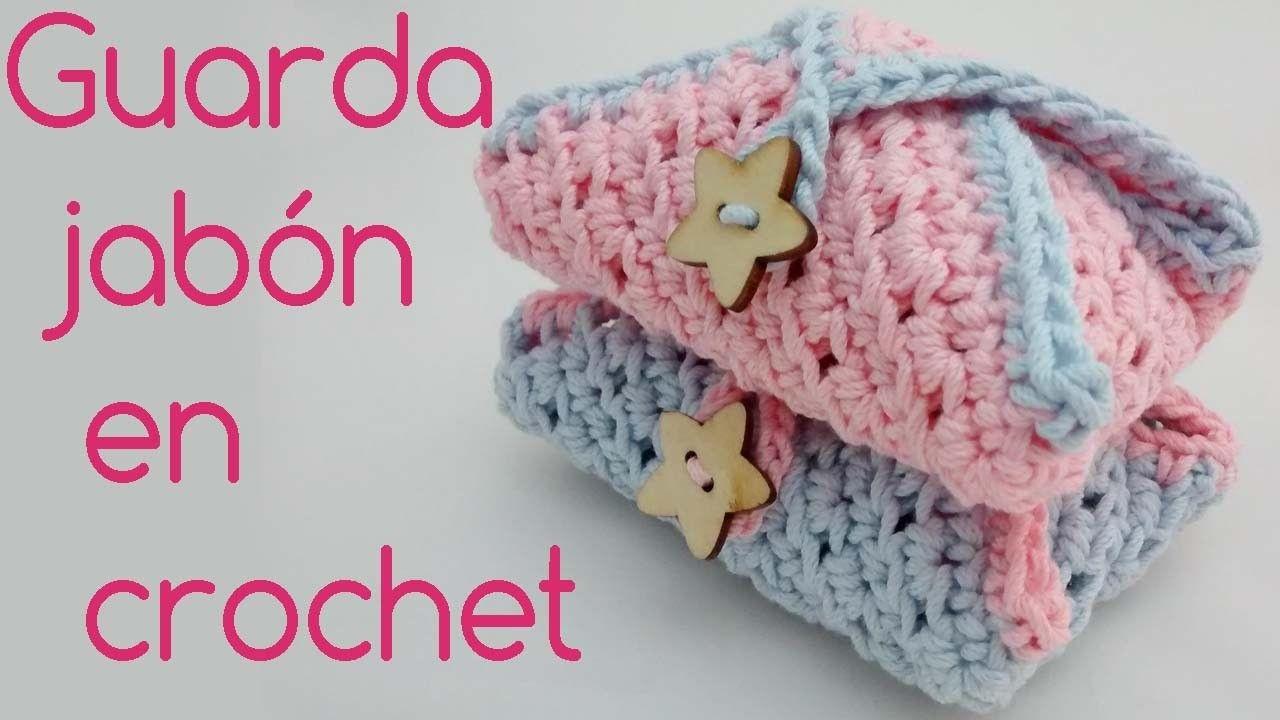 Funda para jabon de ganchillo. Case Cover for crochet soap ...