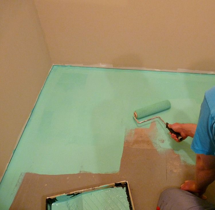 Basement Update How to Paint a Concrete Laundry Room Floor Turquoise : laundry room flooring basement  - Aeropaca.Org