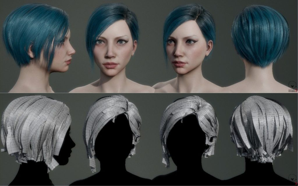 Creating Hair For Real Time Game Characters In 2020 Time Games New Haircuts Hair