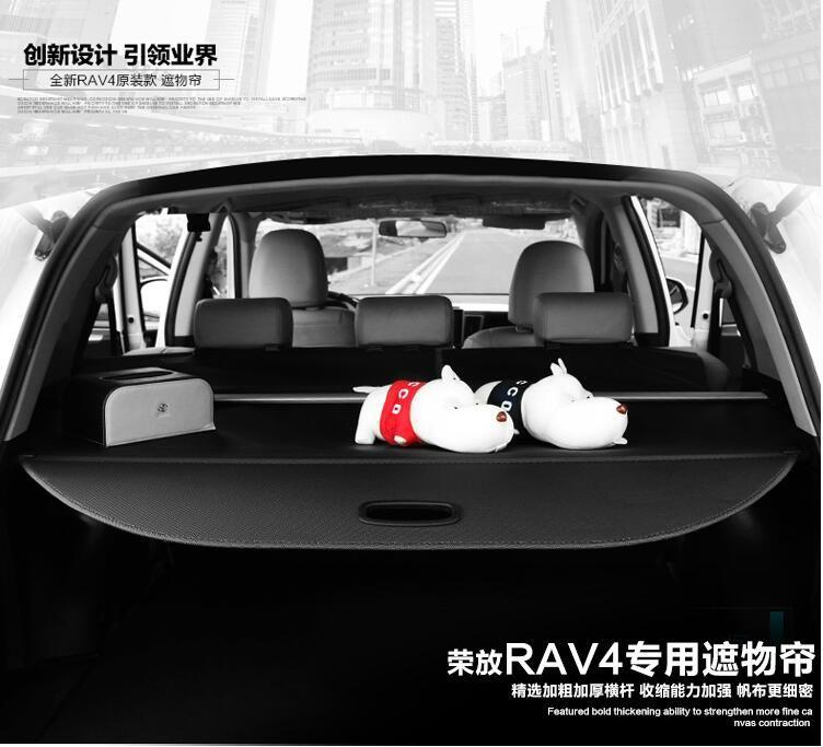 2013-2017 for Toyota Rav4 Black Trunk Shade Rear Cargo Cover Securiry Shield