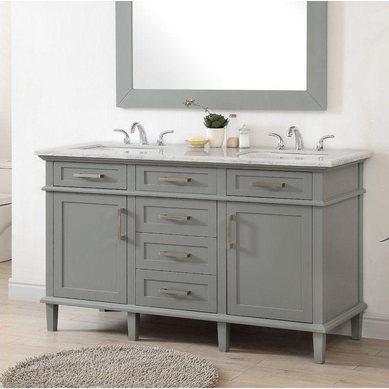 Highland Dunes Shauna 60 Double Bathroom Vanity Wayfair Bathroom Vanity Double Vanity Bathroom Vanity