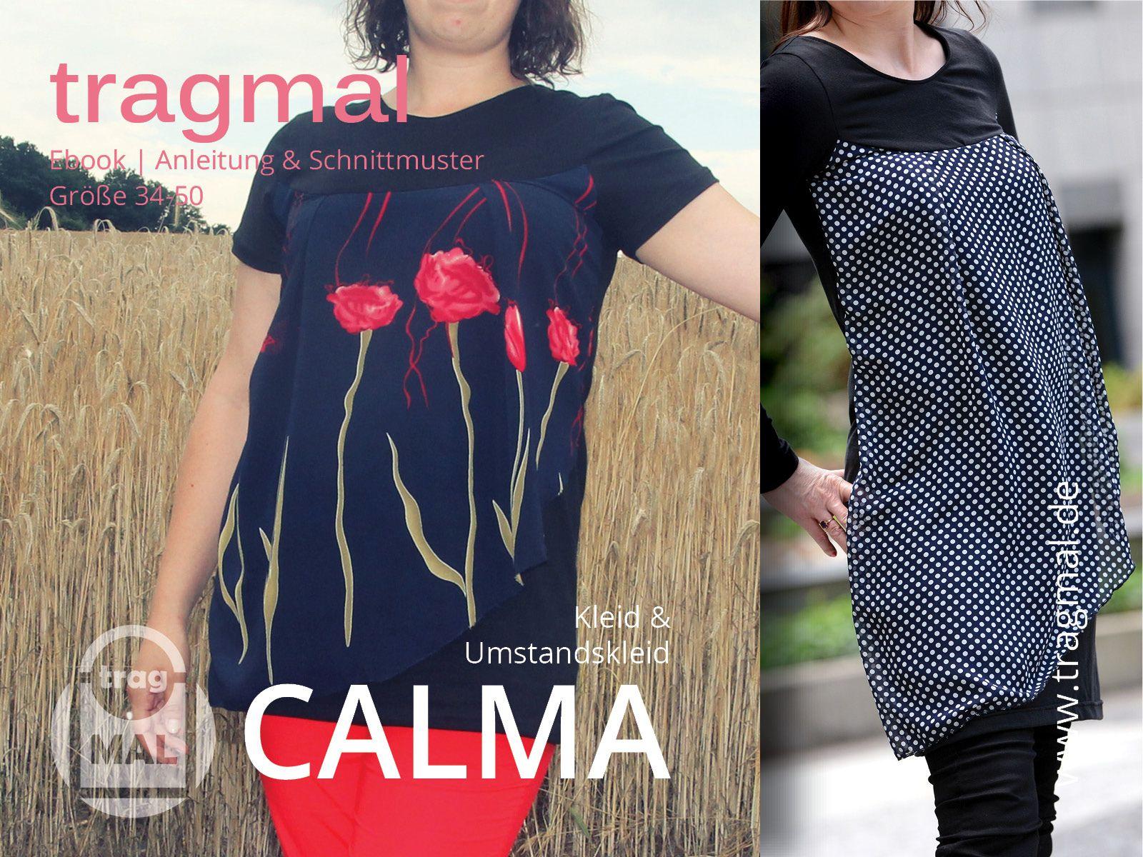 Schnittmuster - Ebook CALMA (Umstandskleid / Shirt) - Gr. 34-50 ...