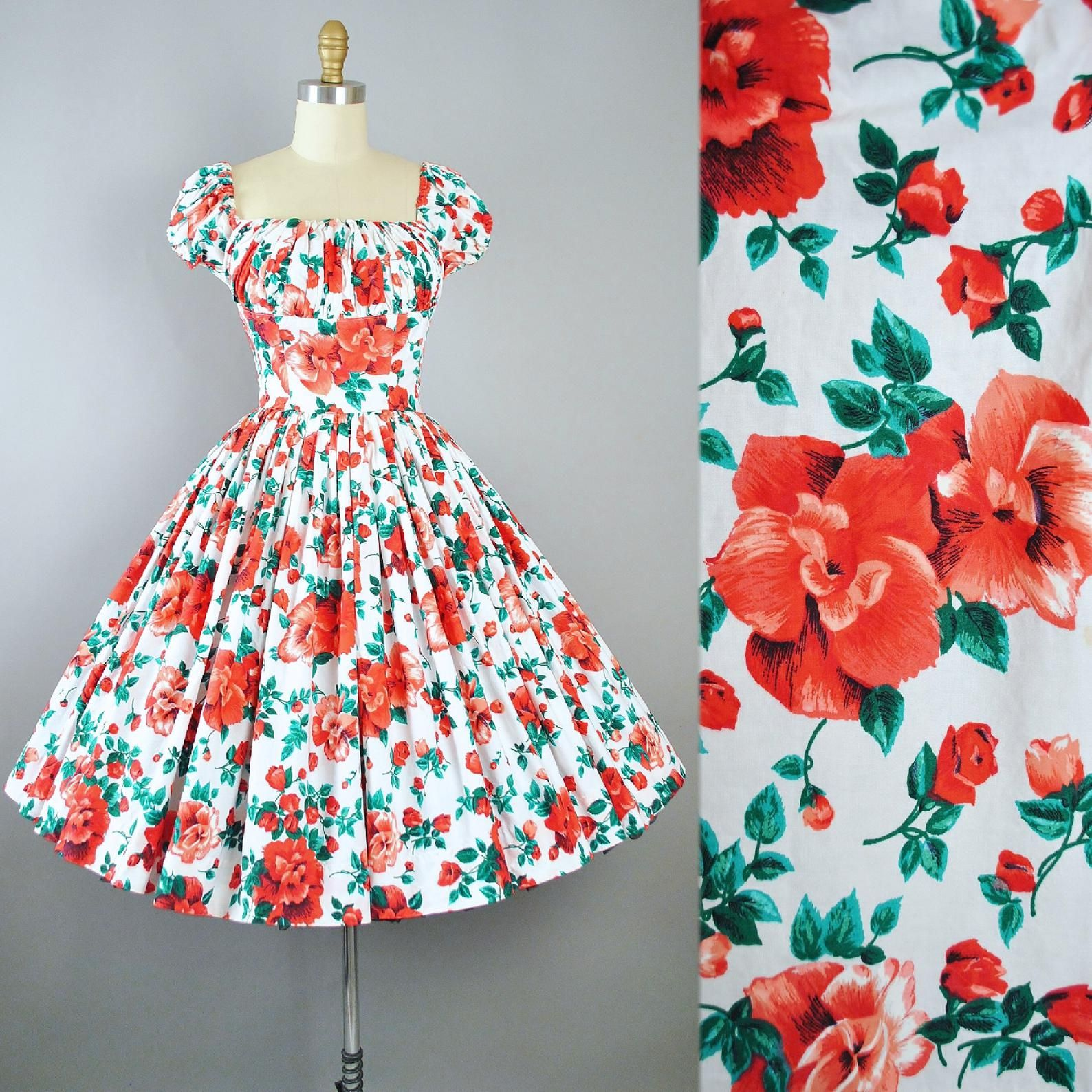 Pin On Vintage 1950s Dresses [ 1588 x 1588 Pixel ]