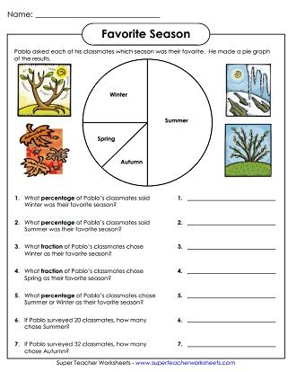 Printable Pie Graph Worksheets tally chart Pinterest Pie graph - resume questions worksheet