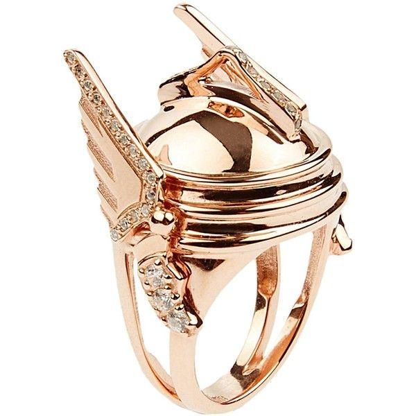 Aliki Stoumpouli Hermes Rose Gold 125 liked on Polyvore
