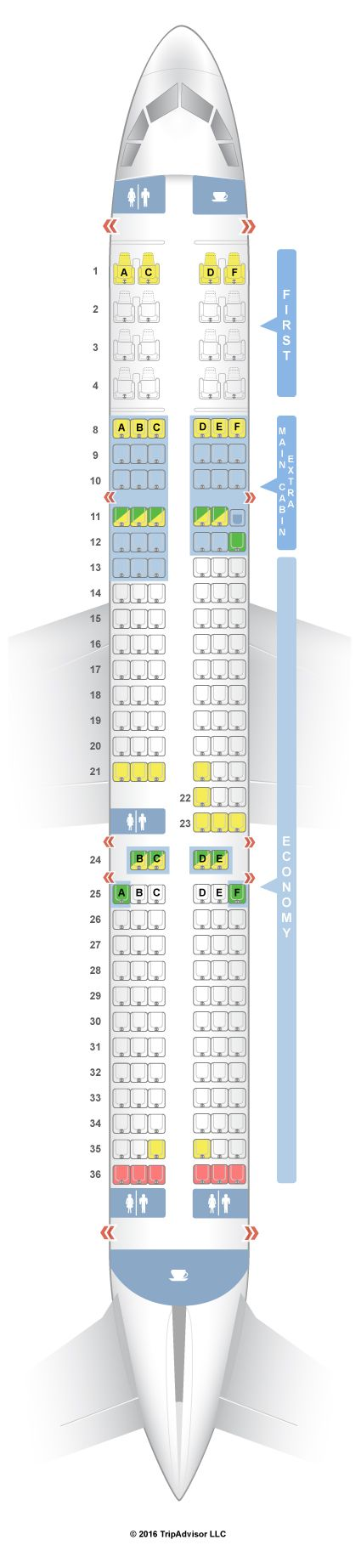 SeatGuru Seat Map American Airlines Airbus A321 (32B) V2 | Travel ...