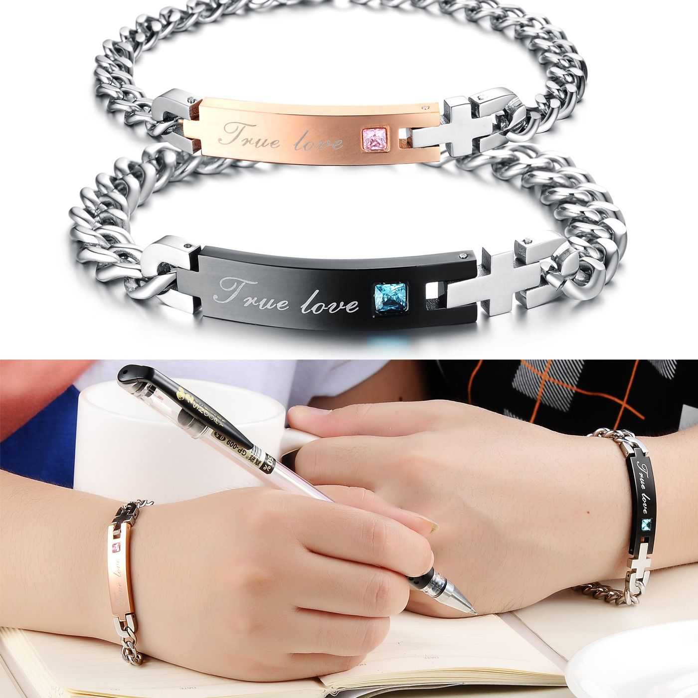 Amazon.com: 316L Stainless Steel Bracelet With Round