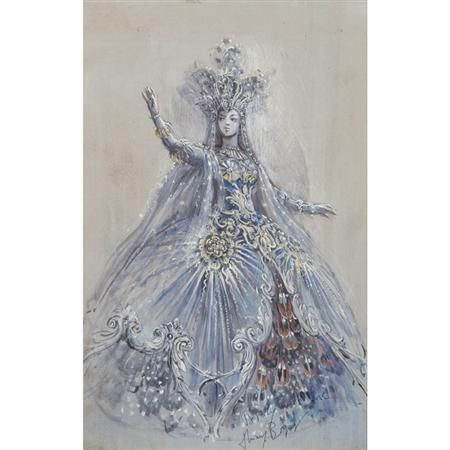 Thierry Bosquet Queen of the Night design sketch
