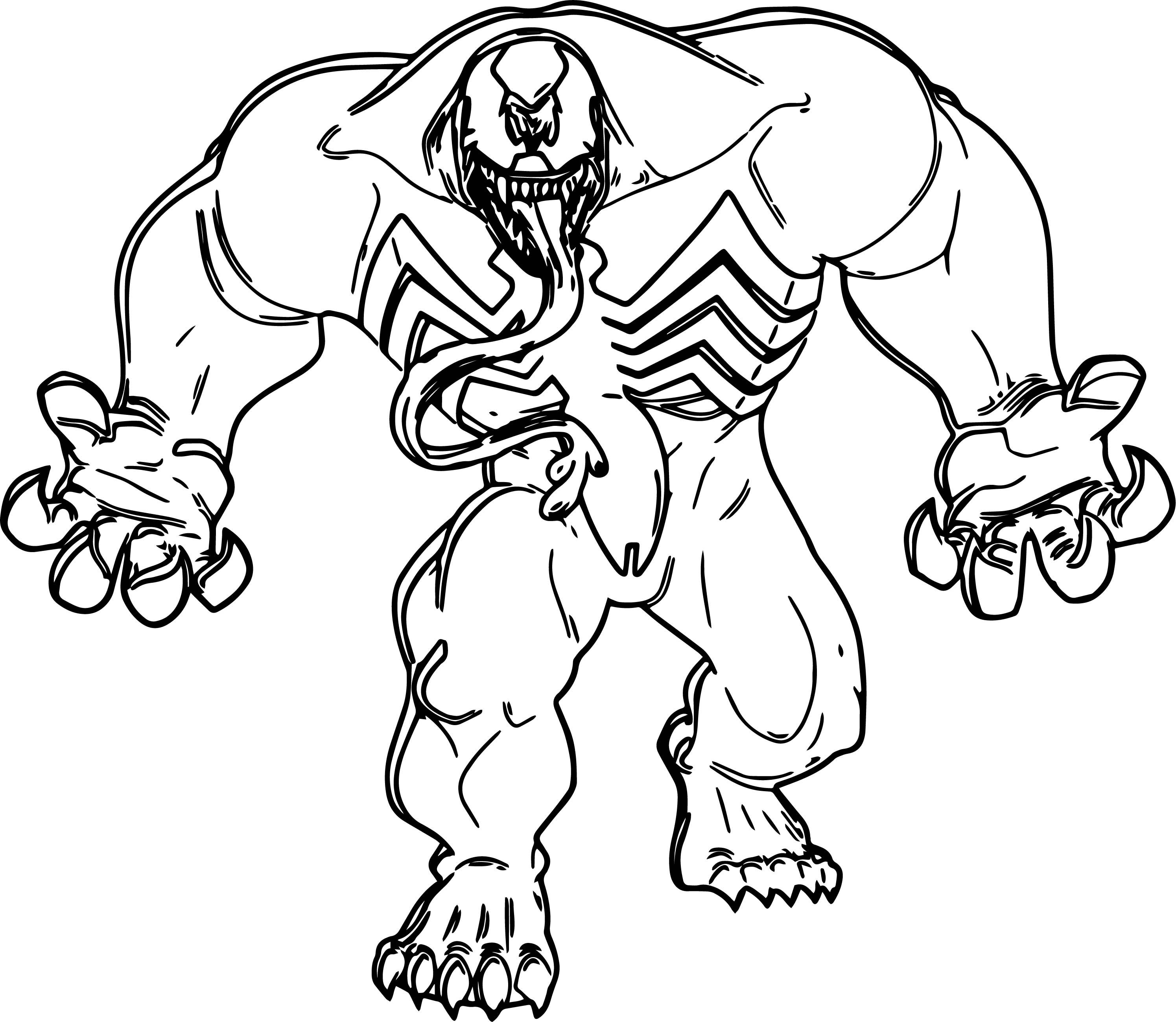 Cool Coming Venom Marvel Coloring Page Superhero Coloring Pages