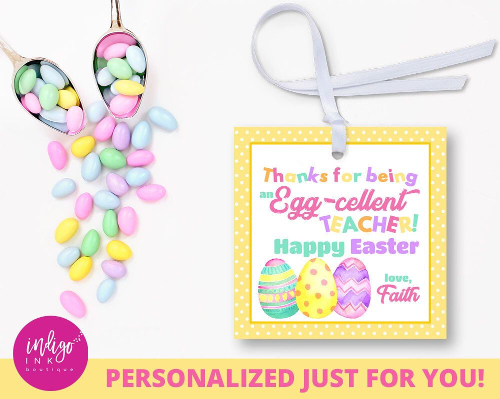 Personalized teacher easter tags easter gift tags customized personalized teacher easter tags easter gift tags customized favor tag easter thank you tag easter printables party favor tags negle Image collections