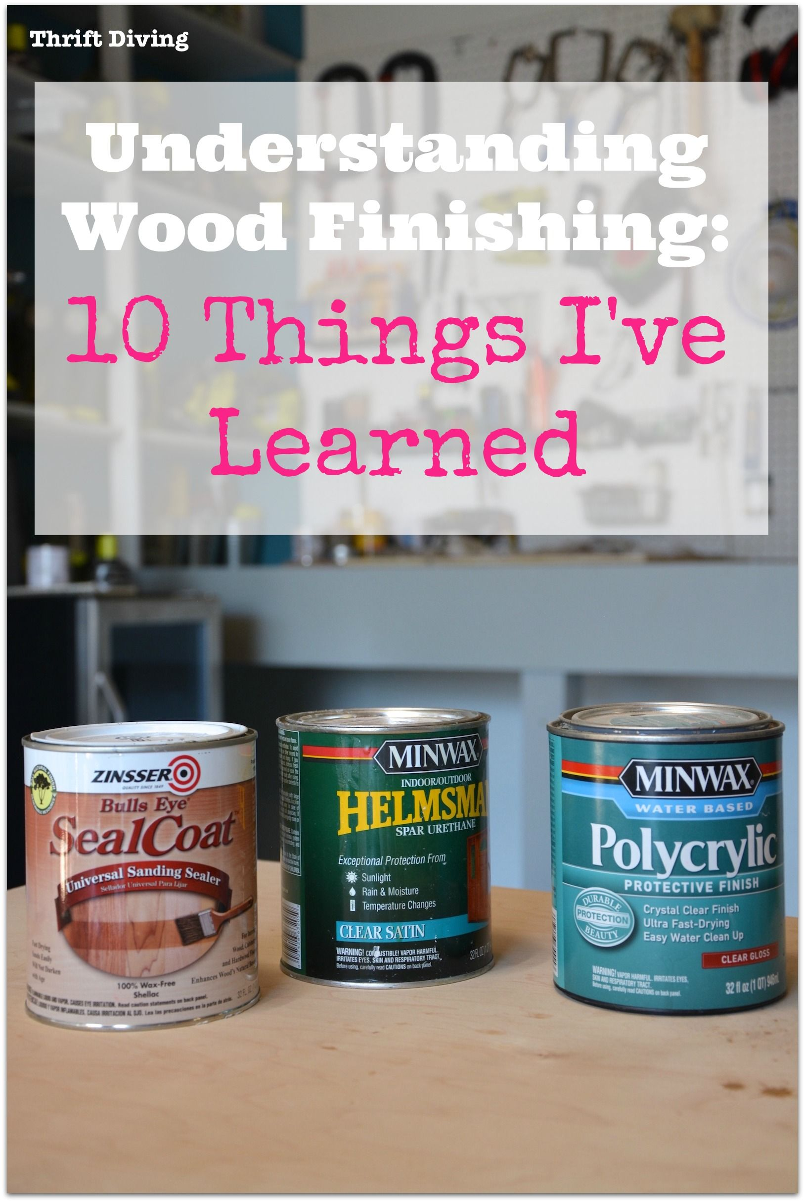 Wood finishing is so confusing! In my research on the perfect finish for my DIY bathroom vanity, I have learned these 10 things so far about how to finish wood furniture. Find out more now.