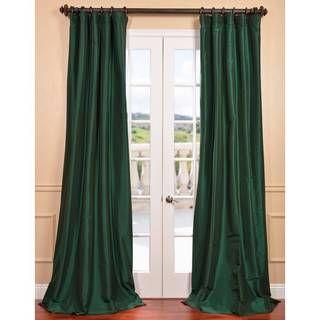 Emerald Green Faux Silk Taffeta Curtain Panel | Overstock.com Shopping    Great Deals On