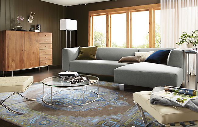 Like The Combination Of Traditional Rug With Modern Furniture