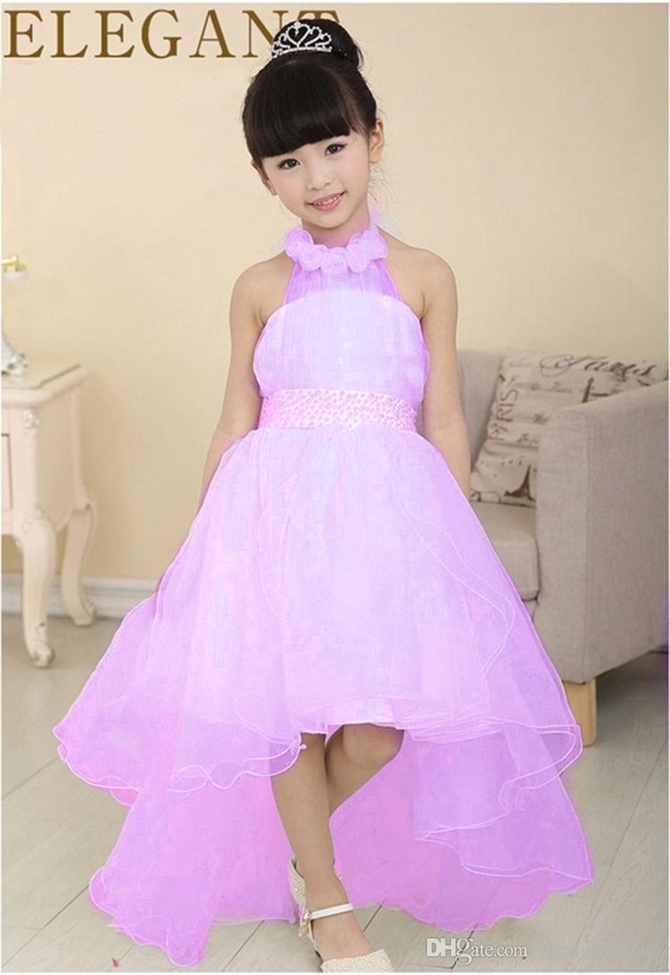 2015 glitz pageant dresses for little girls Halter collar floor ...
